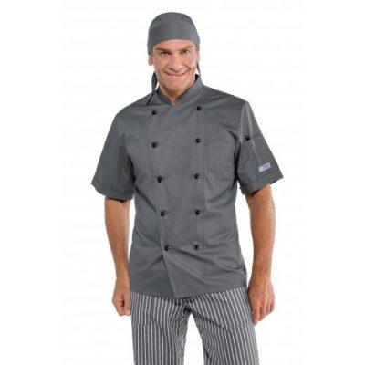 giacca-cuoco-grigio-mezza-manica-65-poliestere-35-cotone